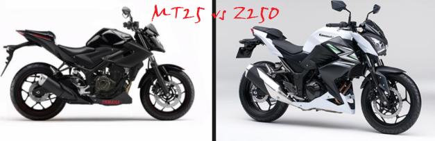mt25 vs z250